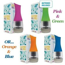 TWO Salt & Pepper Electric Mill | One Green & One Pink