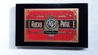 Black Rocky Patel Vintage Series 1990 Deluxe Toro Wood Cigar Box 11.5 x 7 x 1.5