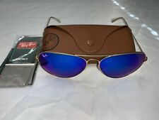 Ray-Ban Aviator Sunglasses RB3026 62mm 112/17 Gold Frame with Blue Flash Lenses