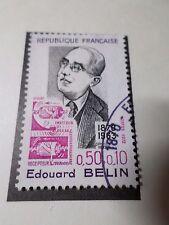FRANCE 1972, timbre 1708, CELEBRITY EDOUARD BELIN, oblitéré, VF STAMP