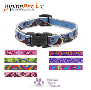 Lupine Dog Collar SMALL Size for Dog or Puppy 12mm wide - Asst patterns & sizes
