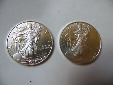 Two 2020 American Silver Eagles