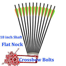 18 in Crossbow Bolts Flat Nock Fiberglass Arrows for Archery Hunting Outdoor 12X
