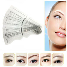 12 Eyebrow Grooming Shaping Stencil Kit Brow Template Makeup Shaper Tool L7S