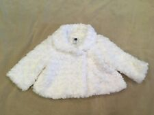 Janie And Jack Fluffy Coat White Baby Girls 0-6 Months