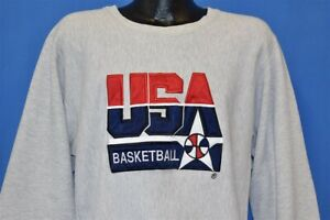 vtg 90s USA 1992 OLYMPICS DREAM TEAM CHAMPION REVERSE WEAVE SWEATSHIRT LARGE L
