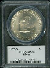 1976-S EISENHOWER LOGO DOLLAR PCGS MS68 2ND FINEST REGISTRY  *