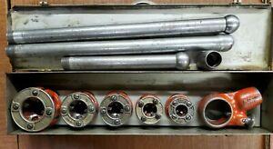 Ridgid OO-R Ratchet Pipe Threader Die Set With 5 Dies & 3 Pipes