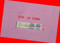 100pcs 3535 6V SMD Lamp Beads Cool White Light FOR LED TV Backlight Strip Repair