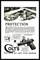 1924 COLT Pistol Antique Handgun Gun AD Print Advertising