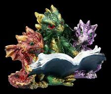 Drachen Figuren - Tales of Fire - Fantasy Bücherdrachen Dekostatue