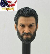 1/6 Wolverine head Hugh Jackman Logan NO NECK 3.0 hot toys phicen ❶IN STOCK USA❶