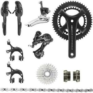 New Campagnolo Black Centaur 11sp. Cycling Groupset 172.5mm 52-36T / 12-32T
