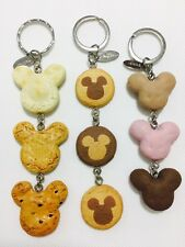 3x Disney Mickey Cracker&Cookie&Macaron Keyrings Key Rings/Chains Bag Charms New