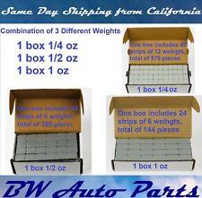 3 Box 1/4oz 1/2oz 1oz Wheel Weights Stick-on Adhesive Tape 27 LB Lead-Free