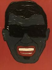 "Expressionism painting canvas RAY CHARLES by Duff ""G-d is Love, Love is Blind"""