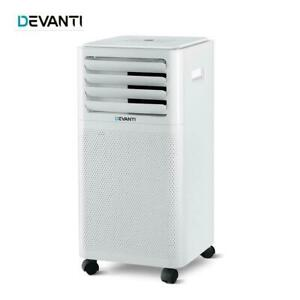 Devanti Portable Air Conditioner Cooling Mobile Fan Cooler Dehumidifier 2kw