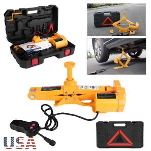 2 Ton 12V Electric Scissor Car  Lift Automatic Garage Vehicle Tire Repair US