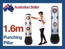 1.6m Inflatable Boxing Buoy Pillar Bop Bag Fun Toys Adult Punching Grey Children