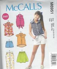 McCall's Nähmuster Kinder / Mädchen Oberteile Rock Shorts & Hose 7 - 14 M6951