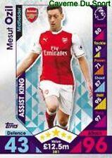 381 Mesut OZIL GERMANY ARSENAL.FC SKILL CARDS PREMIER LEAGUE 2017  TOPPS