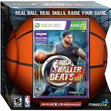 NBA Baller Beats And Real NBA Spalding Basketball Replica Xbox 360 Video Game