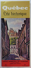Vintage Quebec Canada Travel Brochure Historical City 1965 Map Tourism History