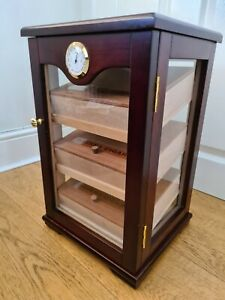 Wooden Cigar Humidor Cabinet with Hygrometer
