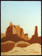 "Martha Slaymaker ""Wupatki"" Signed Numbered Collagraph Arizona southwestern Art"