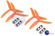 4x Hélice Tripala RC Drone 5030 5´´ // Naranja Adaptador QAV Quadcopter Hélices