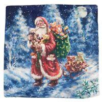 18 Pulgadas Cubierta de cojin de serie Feliz Navidad Funda de almohada almo W1Y8