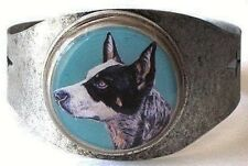 Australian Cattle Dog original art cuff bracelet