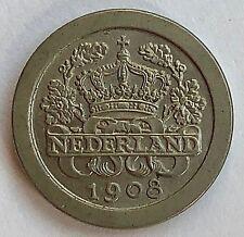 NETHERLANDS 1908 5 CENTS   -   UNC