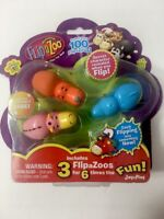 FlipaZoo 3 Pack Series 1 Mini Figures (as shown) Collectible JayPlay Flip a Zoo