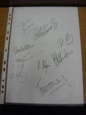 2001 Autographed A4 Page: Watford - Approx 9 Signatures Upon A Plain White Piece