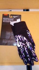 Nike Women's Element Thermal Run Gloves Black/Pink/Purple/white Gloves -Size SP