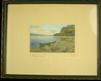 Antique Hand Colored Photograph by SAWYER - A Midday dream