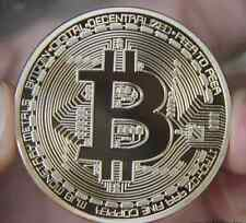 Gold Plated Bitcoins Coin Collectible Gift Physical BTC Coin Art Collection Yu