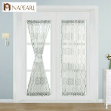 NAPEARL 1 Panel Geometric Design Living Room Door Curtains Sheer Fabrics Drapes