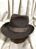 Barbisio Size 7-7 1/8 Gray Early 1950's Italian Fedora Men's Vintage Hat