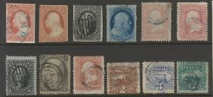 USA 1850s / 60s selection, incl #17, #69, #117