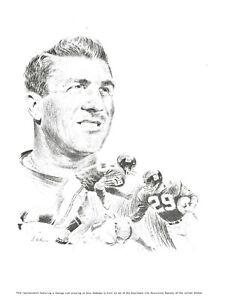 George Loh print Alex Webster N.Y. Giants Equitable Life Assurance 1960s