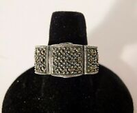 Judith Jack Sterling Silver 925 Marcasite Fancy Ring Size 7