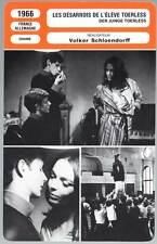 LES DESARROIS DE L'ELEVE TOERLESS - Carrière,Schöndorff (Fiche Cinéma) 1966