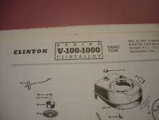 clinton parts list,clinton series v-100-1000 illustrated antique clinton engine