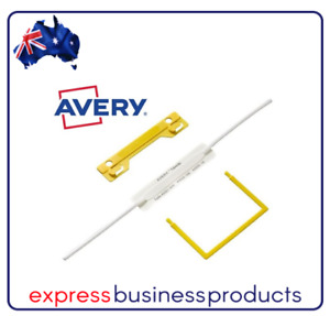 Avery Tubeclip Fastener Yellow Pack of 10 - AD44005Y