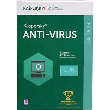 Brand New Kaspersky Anti-Virus Antivirus 2016 1 PC 1 Year