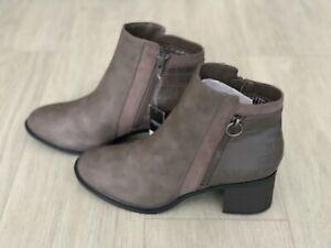 Next forever comfort block heel boots women's grey sizes uk 5w, 6, 6.5, NEW