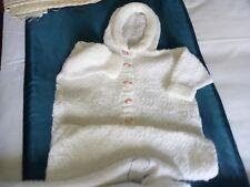 Blanco Tejido a Mano Bebés Dormir Suit