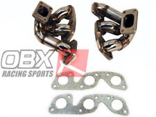 OBX Stainless Header Manifold For Nissan Skyline RB26DETT Twin Turbo T25/T28